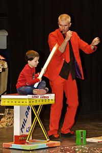 Luigi Ludus con Ale en teatro de Ronda