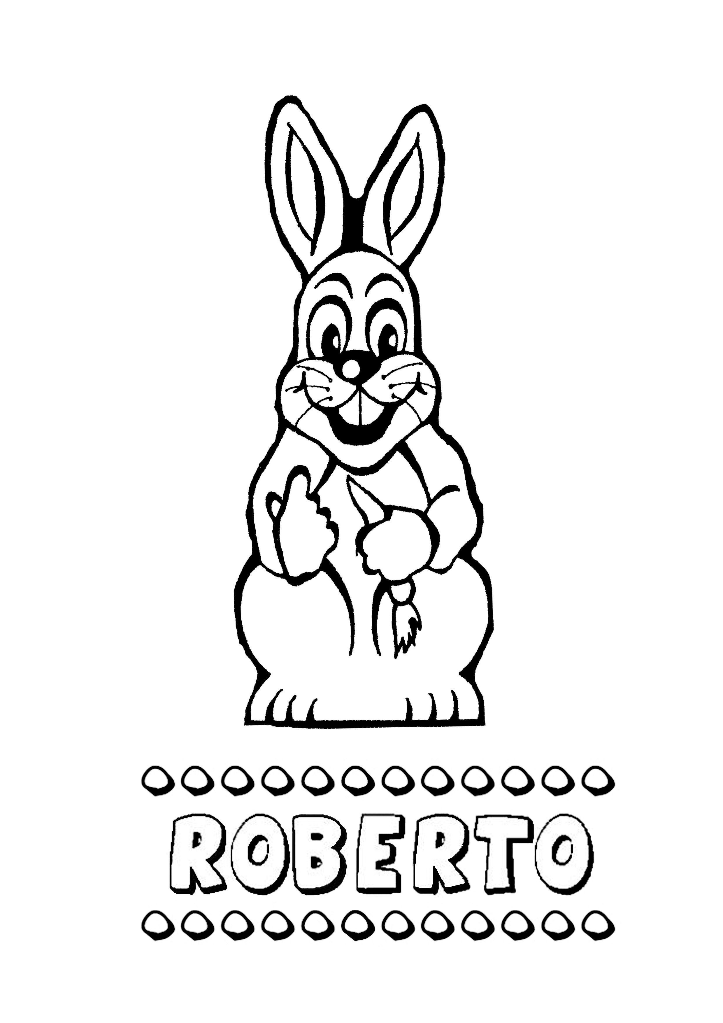 roberto conejo dibujar